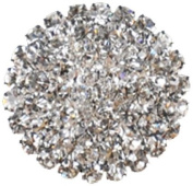 Rhinestone Button BRB-117, 1.9cm Silver Resin Base Button, Each Carded