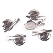 Wholesale 100pc Silver Tone Dual Brooch Pin Pad Back Hair Clip Make Finding Lot