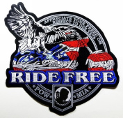Big Eagle Ride Free Patches 23.5x22 Cm Motorcycle Biker Patch Sew/iron on Patch to Cloth, Jacket, Jean, Cap, T-shirt and Etc.