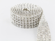 Sparkles Make It Special 5 Row Crystal Rhinestone Ribbon Wedding Cake Banding 2 yard