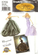 Simplicity 5709 39cm Fashion Doll Clothes / Masquerade Ball