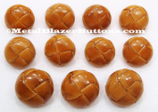 Premium New ~TAN GENUINE LEATHER~ 11pc Shank Style Sport Coat BLAZER BUTTON SET