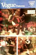 VOGUE 7601 Hobbyhorse Reindeer and Santa Stockings Sewing Pattern