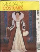 McCall Sewing Pattern 4028 AA - Use to Make - Misses Elizabethan Costume - Sizes 6, 8, 10, 12