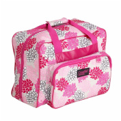 Creative Notions Sewing Tote in Pink and Grey Floral Print