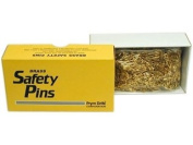 Prym Bulk Safety Pins Gilt Plated Brass 2/0