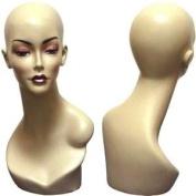 Realistic Fleshtone Female Mannequin Head Form