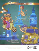 OESD Embroidery Machine Designs CD THE GRAND TOUR Purr-fect Travels Paris London