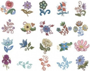 OESD Embroidery Machine Designs CD VINTAGE FLORAL