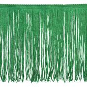 Chainette Fringe P-7045 100-Percent Polyester 15cm Fringe Embellishment, 10-Yard, 15 Emerald