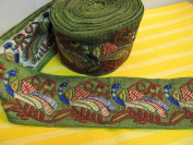 Indian Mirrored Ari Embroidered Fabric Trim