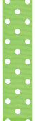 Offray Polka Dot Grosgrain Craft Ribbon, 3.8cm Wide by 50-Yard Spool, Lime Green