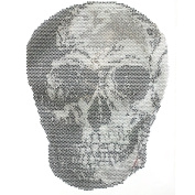 Rhinestone Transfer Hot Fix T-shirt Clothing Crafts Cushion Details Skull Design 3 Sheets 8.2* 28cm