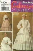 Simplicity 4900 Misses' Civil War Costumes Size N5