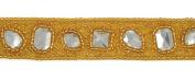 Rhinestone Beaded Trim 2.5cm - 1.9cm by 1-Yard