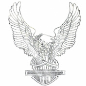 Rhinestone Transfer Hot Fix T-shirt Clothing Crafts Cushion Crystal Big Eagle 3 Sheets 10.6*31cm