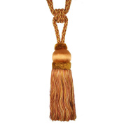 Single Tassel Tieback with 20cm Tassel and 80cm Spread, Burnt Orange