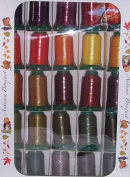 Poly X 40 Embroidery Machine Thread 25 Spool Autumn Colours Set