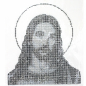 Rhinestone Transfer Hot Fix T-shirt Clothing Crafts Cushion God Design 3 Sheets 10.2* 28cm