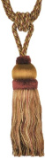 Single Tassel Tieback with 20cm Tassel and 80cm Spread, Burgundy and Gold