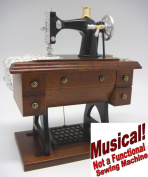 """Musical - 7¾ Inch Tall Antique Treadle Sewing Machine - """"Buttons & Bows"""""""