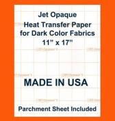 JET-OPAQUE II HEAT TRANSFER PAPER 28cm X 43cm PACK 30 SHEETS