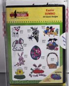 Amazing Designs Easter Jumbo Embroidery CD, ADC-75JTK