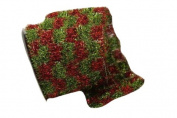Renaissance 2000 Ribbon, 10cm , Red and Green Tassel Checker
