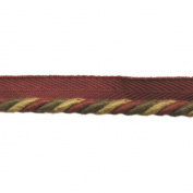 0.6cm Cord with Lip on 25-Yard Roll, Garnet and Gold