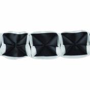 Boxed Pleated Ribbon 100-Percent Polyester Ribbon, Black/White