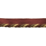 0.6cm Cord with Lip on 25-Yard Roll, Burgundy and Gold
