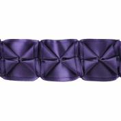 Boxed Pleated Ribbon 100-Percent Polyester Ribbon, Purple