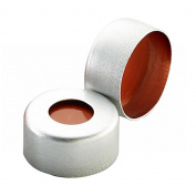 Wheaton 224211-01 Natural E-Z Aluminium Seal with 0.002 PTFE/0.038 Red Rubber Liner, 11mm Diameter