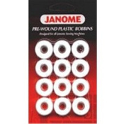 Janome Pre-Wound Plastic Bobbins Designed for all Janome Sewing Machines