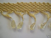Beaded Tassel Fringe Champagne 5.1cm By The Yard