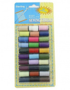 96 Packs of 30 pc. sewing thread, assorted colours