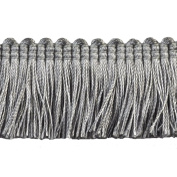 Brushed Fringe Polyester Brushed Fringe, 3.8cm , Grey