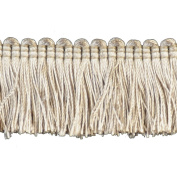 Brushed Fringe Polyester Brushed Fringe, 3.8cm , Dark Beige