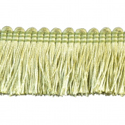 Brushed Fringe Polyester Brushed Fringe, 3.8cm , Green