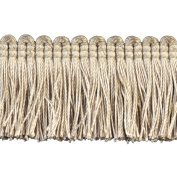 Brushed Fringe Polyester Brushed Fringe, 3.8cm , Ivory