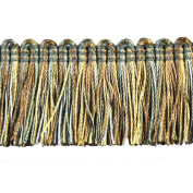 Brushed Fringe Polyester Brushed Fringe, 3.8cm , Mint/Gold