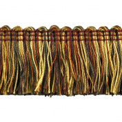 Brushed Fringe Polyester Brushed Fringe, 3.8cm , Rust/Gold