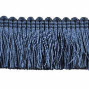 Brushed Fringe Polyester Brushed Fringe, 3.8cm , Blue