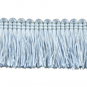 Brushed Fringe Polyester Brushed Fringe, 3.8cm , Light Blue