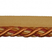 1.3cm Cord with Lip on 25-Yard Roll, Burnt Orange