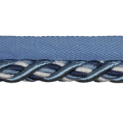 1.3cm Cord with Lip on 25-Yard Roll, Blue and White