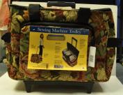 Hemline Sewing Machine Trolley Floral Case