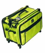 Lime Green Medium Mascot Tutto Machine on Wheels Sewing Carrier Case