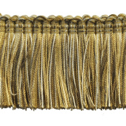 5.1cm Brushed Fringe on 25-Yard Roll, Beige and Taupe