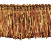 5.1cm Brushed Fringe on 25-Yard Roll, Burnt Orange
